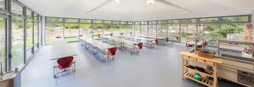 Brand new dining hall at St Aubyn's