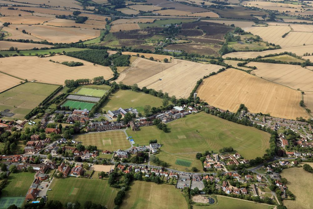 aerial view of Felsted School